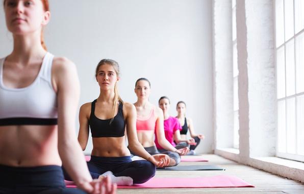 Photo Wallpaper Pose Group Yoga