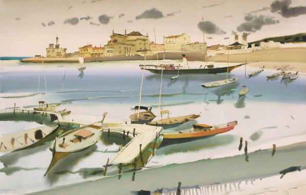 Picture boats, port city, 2025, ARUSHA VOZMUS
