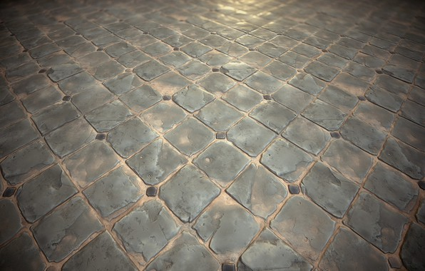 Picture rendering, texture, art, Stephen Honegger, Stylized texture - Diamond paving study