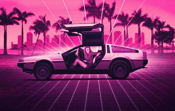 Picture Girl, Music, Neon, Background, DeLorean DMC-12, DeLorean, DMC-12, DMC, Electronic, Synthpop, Darkwave, Synth, Retrowave, Synth-pop, …