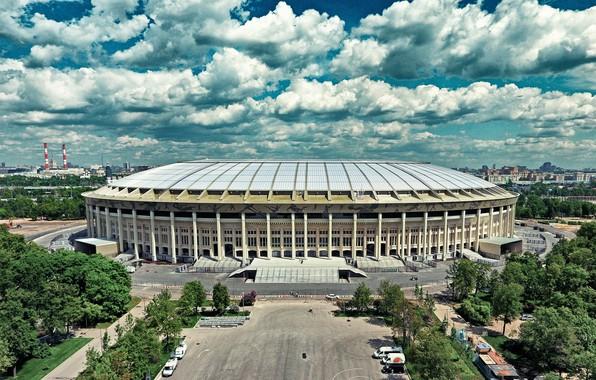 "Picture The sky, The city, Sport, Football, Moscow, Russia, Stadium, Luzhniki, The Main Stadium, Stadium ""Luzhniki"""
