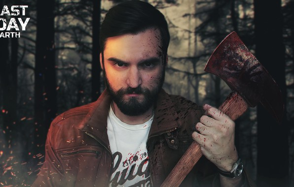 Picture Axe, Man, Beard, Zombies, Apocalypse, Survival, Survival, Last Day on Earth