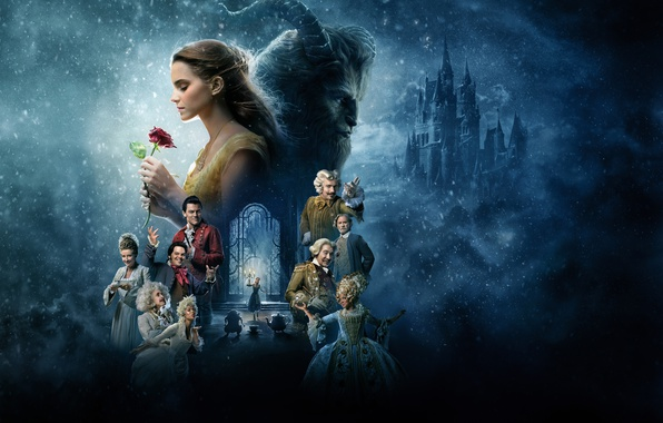 Picture fantasy, Emma Watson, Emma Watson, poster, characters, Ian McKellen, Ian McKellen, Ewan McGregor, Beauty and ...