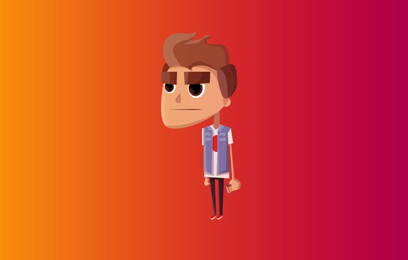 Picture orange, red, style, flat, the game, Mac, minimalism, gradient, mac, phone, red, guy, iphone, game, …