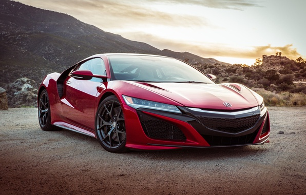 Picture car, red, supercar, american, Acura, Acura NSX, montain, japanse