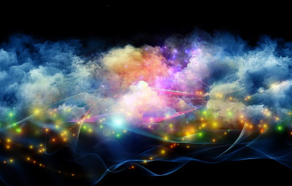 Picture Pink, Blue, Green, Black, Lights, White, Yellow, Smoke, Backgraund