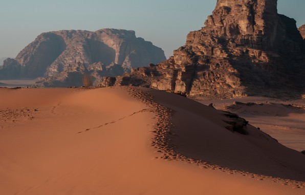 Picture sand, landscape, desert, Jordan