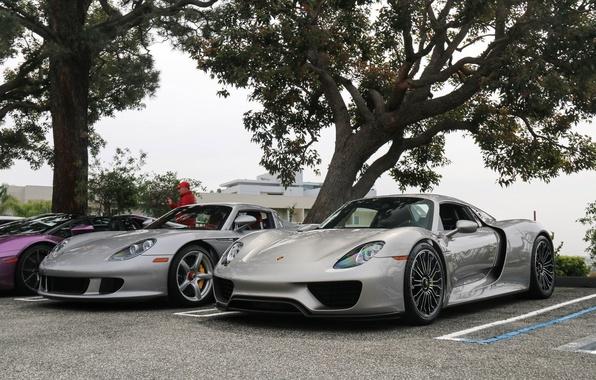 Picture Porsche, Carrera GT, Spyder, 918, supercars