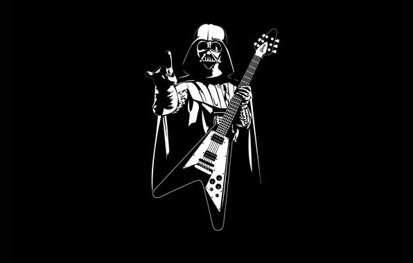 Picture Star Wars, guitar, Heavy Metal, Pearls