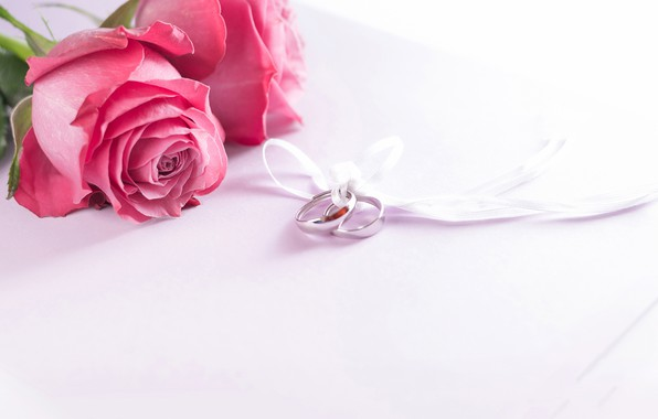 Picture roses, ring, tape