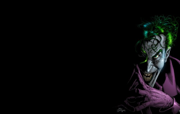 Picture smile, Joker, maniac, Batman, comic, Joker, DC Comics, Crazy