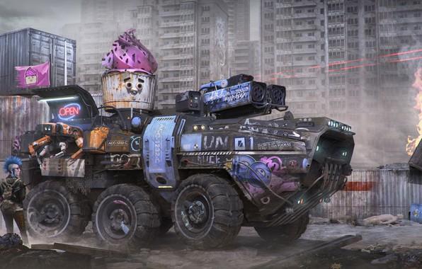 Picture transport, cyberpunk, Igor Sobolevsky, ACC-1232-C