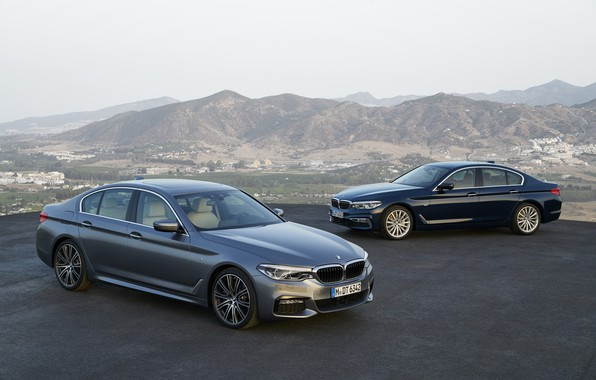Picture grey, BMW, xDrive, 540i, 530d, Luxury Line, 5, M Sport, dark blue, 2017, 5-series, G30, …