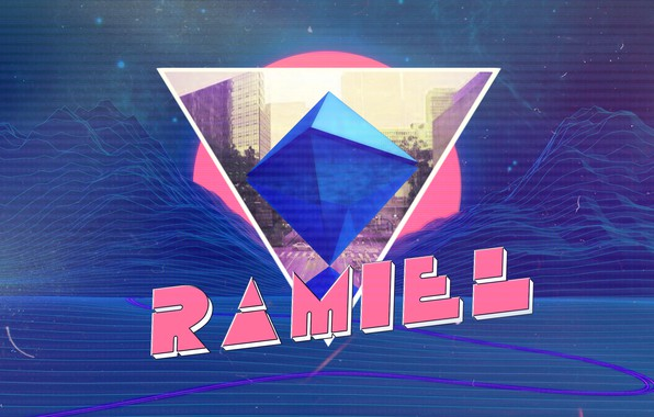Picture Mountains, Neon, Angel, Background, Triangle, Synthpop, Synth, Retrowave, Synthwave, Ramiel, Ramiel