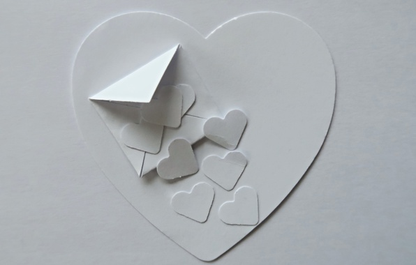 Picture paper, background, heart