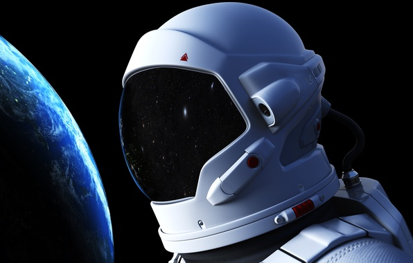 Picture space, astronaut, the atmosphere, art, Earth, gravity, beautiful, infinity, weightlessness, bokeh, astronaut, wallpaper., the output ...