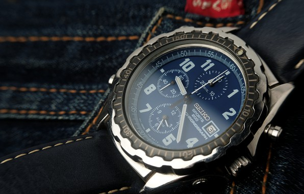 Picture watch, mechanism, dial, jeans
