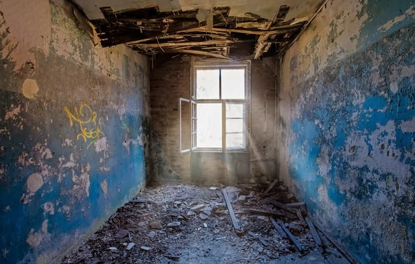 Picture window, the ceiling, floor