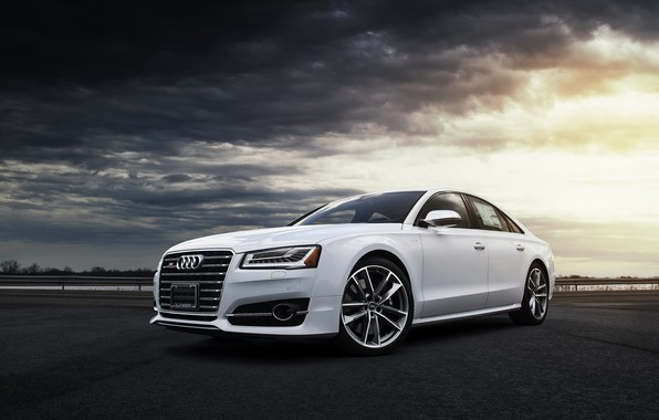 Picture Audi, Clouds, White, VAG