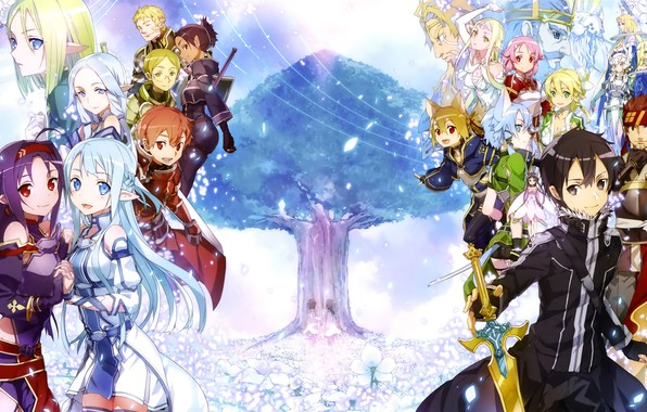 Photo Wallpaper Game, Anime, Asian, Manga, Japanese, Sword Art Online,