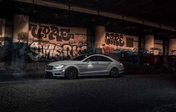 Picture Light, Mercedes, AMG, White, CLS63, W218, Graphity