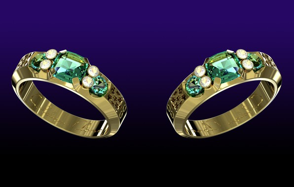 Picture the dark background, diamonds, gems, cut, mirror, jewelry, gold glitter, the sparkle of emeralds, gold …