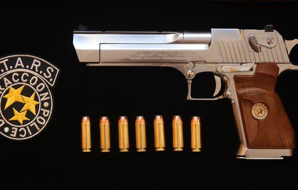 Picture gun, weapons, gun, weapon, Desert Eagle, Residen Evil, S.T.A.R.S., Desert Eagle