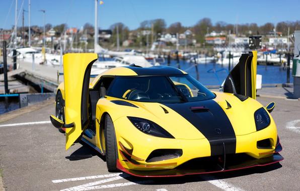 Picture auto, yellow, door, Koenigsegg, supercar, Worldwide, Koenigsegg Agera RS ML