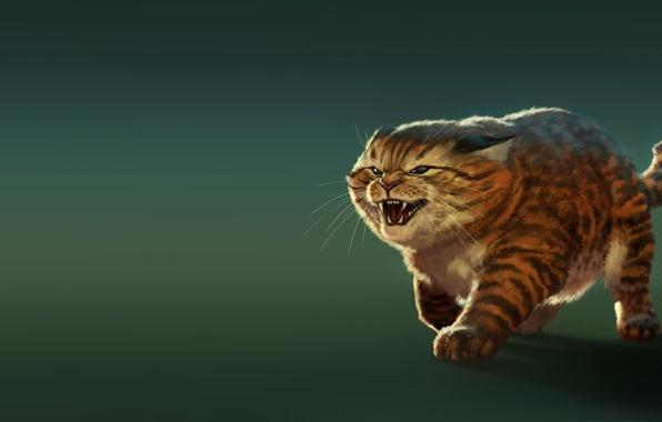 Picture cat, character, mood, figure, Koshak, art, Tomcat