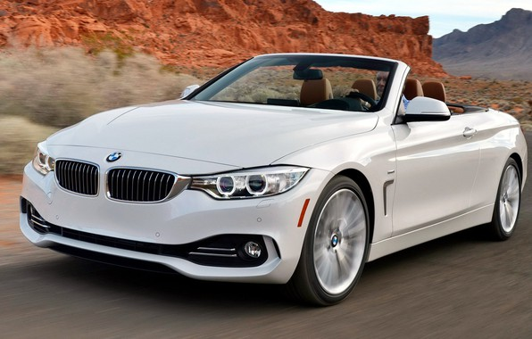 Picture road, mountains, speed, turn, BMW-7-series