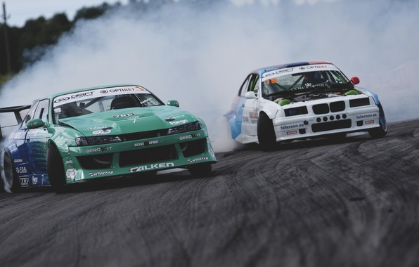 Picture bmw, nissan, drift, silvia