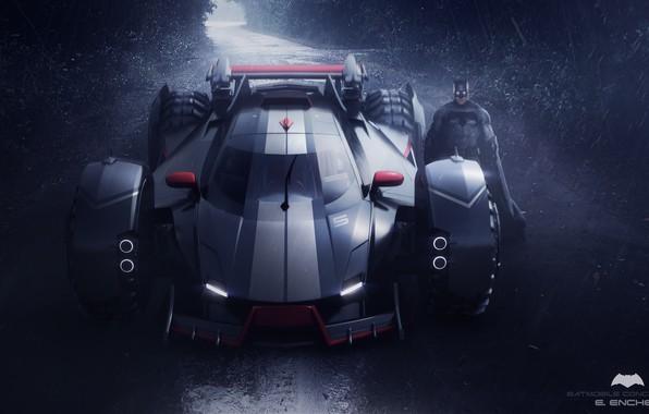 Picture road, car, batmobile concept