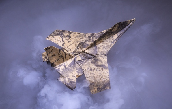 Picture paper, the plane, background, fighter, origami
