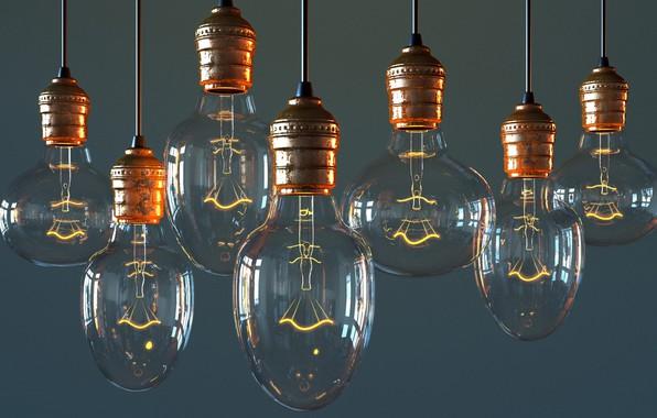 Picture lamp, art, Bulb, Viktor Rudenko