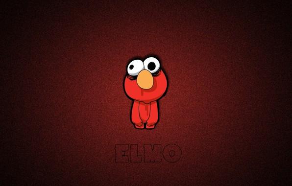 Picture doll, red monster, Elmo, sesame street