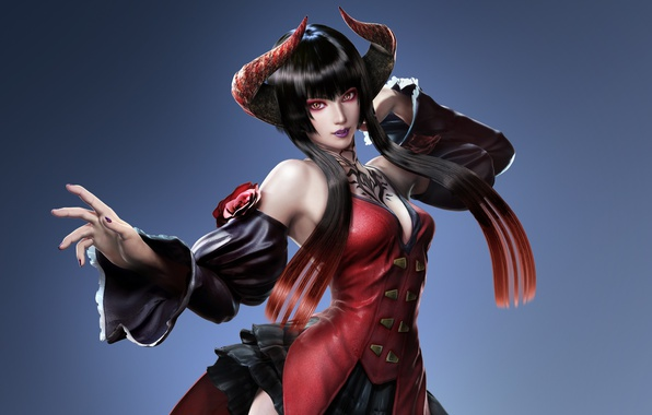 Picture girl, undead, fighter, immortal, vampire, DLC, Tekken, Revolution, Tekken Revolution, horn, Eliza, Tekken 7, female …