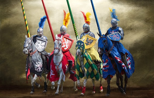 Picture weapons, horse, armor, spear, shield, coat of arms, Knight