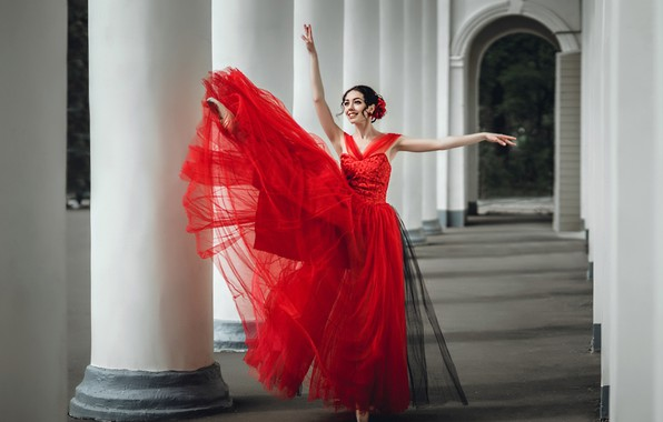 Picture girl, dance, dress, ballerina