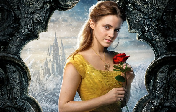 Wallpaper Cinema, Girl, Love, Rose, Disney, Emma Watson