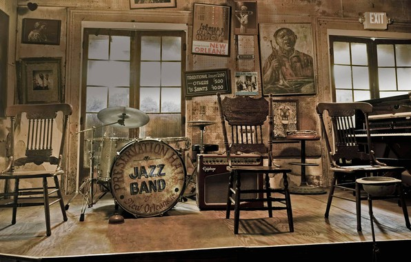 Picture interior, jazz, USA, New Orleans, Preserves Hall