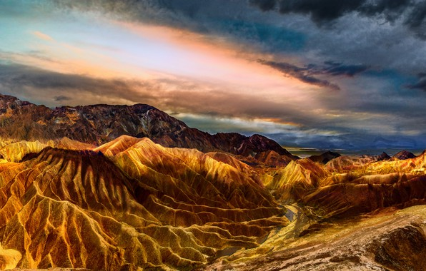 Picture the sky, color, clouds, landscape, mountains, bright, clouds, nature, rocks, desert, heat, CA, USA, America, …