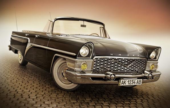 Picture retro, car, GAZ 13 Chaika