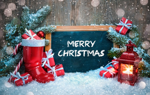 Picture winter, snow, decoration, tree, New Year, Christmas, Christmas, winter, snow, Merry Christmas, Xmas, decoration