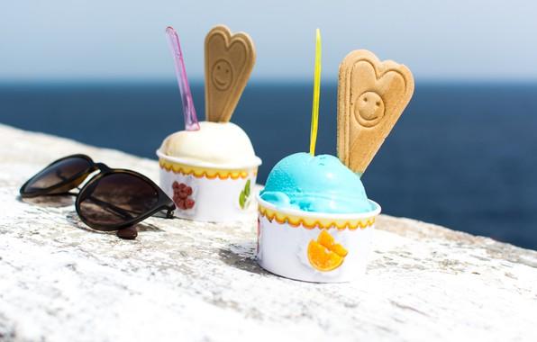 Picture summer, cookies, ice cream, summer, dessert, sweets, dessert, ice cream, sunglasses