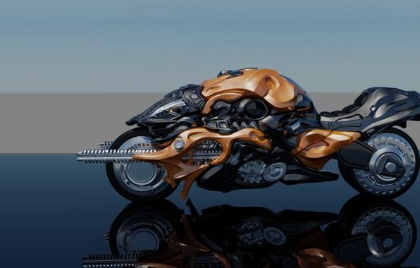 Picture Moto, art, bike, goodmole Kim, RF-1 bike