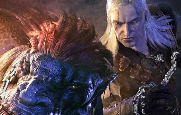 Photo wallpaper chain, monster, Adda, striga, the Witcher, the witcher, Geralt