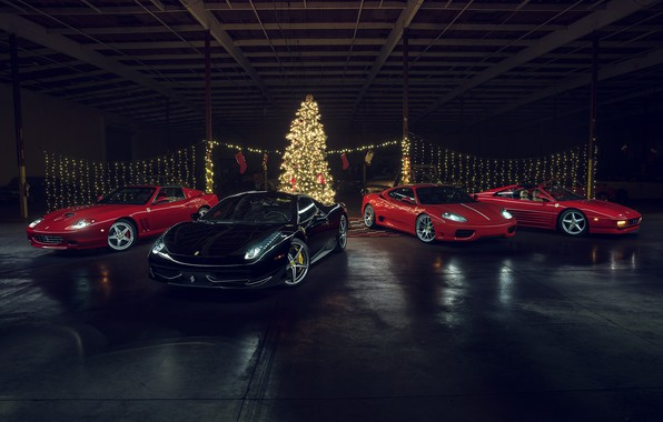 Picture F430, Ferrari, Red, Christmas, Califonia, 458 Italia
