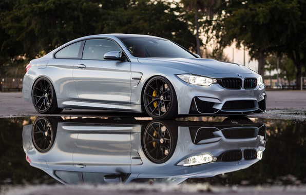 Picture BMW, Water, Silver, Reflection, Puddle, F83