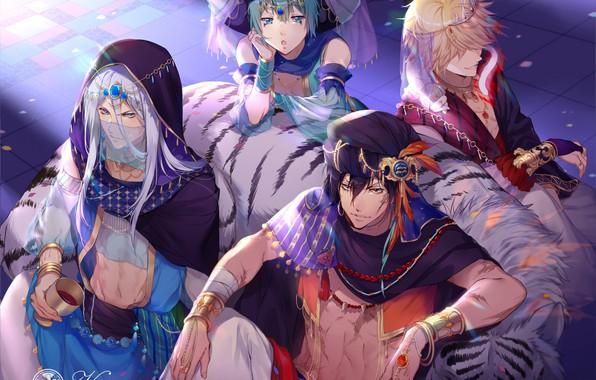 Picture anime, art, guys, katekyo Hitman reborn, varia