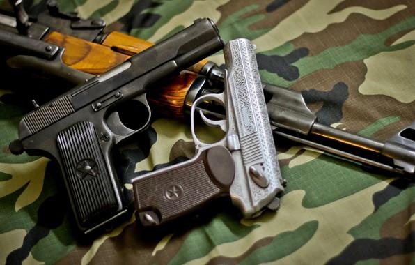 Picture Gun, gun, pistol, Machine, weapon, engraving, Kalashnikov, Kalash, engraving, AKMS, Makarov, PM, Makarov, PM